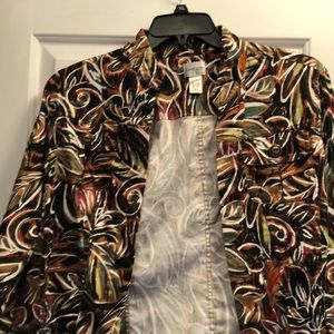Chico's size 2 multi colored jacket